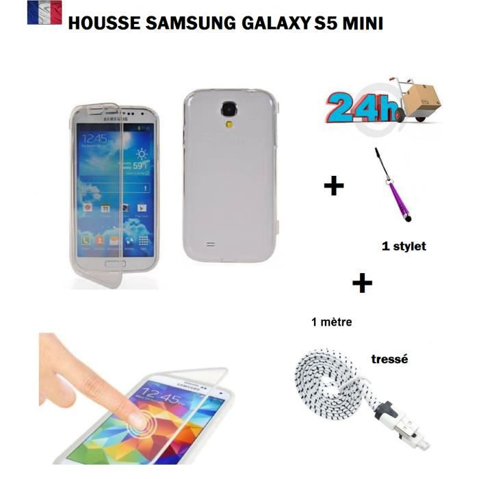 Housse coque de protection transparent samsung galaxy for Housse samsung s5