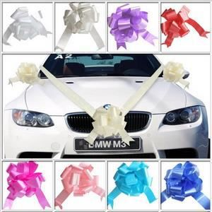 Deco voiture mariage kits ruban jaune achat vente for Decoration voiture mariage