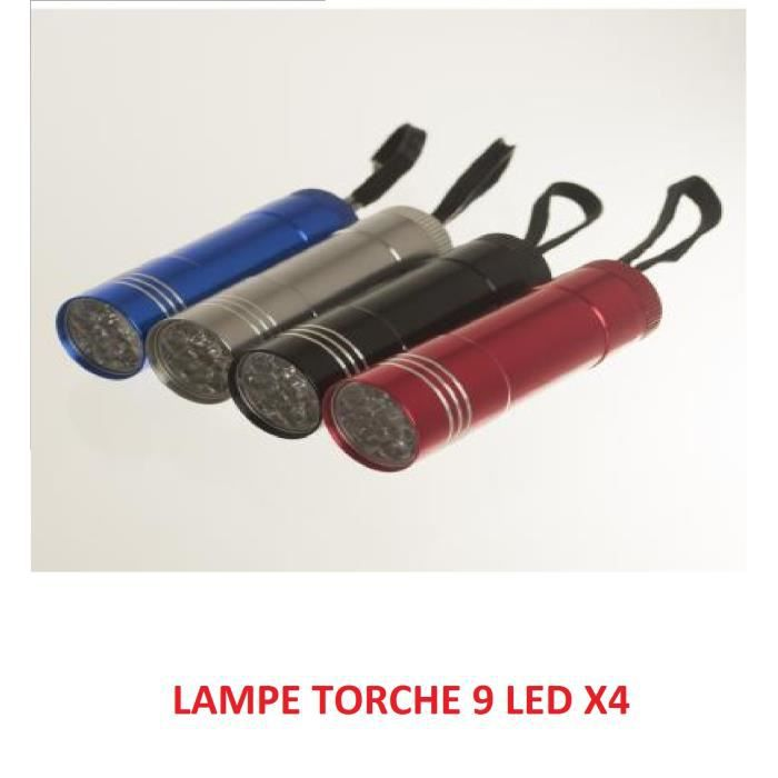 lampe torche 9 led x4 achat vente lampe de poche. Black Bedroom Furniture Sets. Home Design Ideas