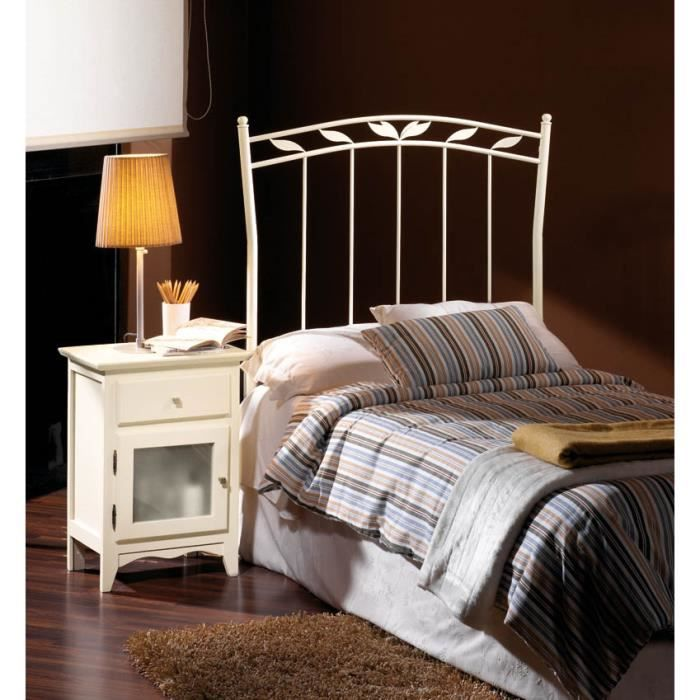 t te de lit en fer forg mod le alsacia achat vente t te de lit cdiscount. Black Bedroom Furniture Sets. Home Design Ideas