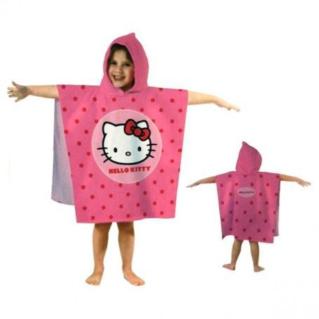hello kitty poncho cape de bain avec capuche achat vente sortie de bain hello kitty poncho. Black Bedroom Furniture Sets. Home Design Ideas