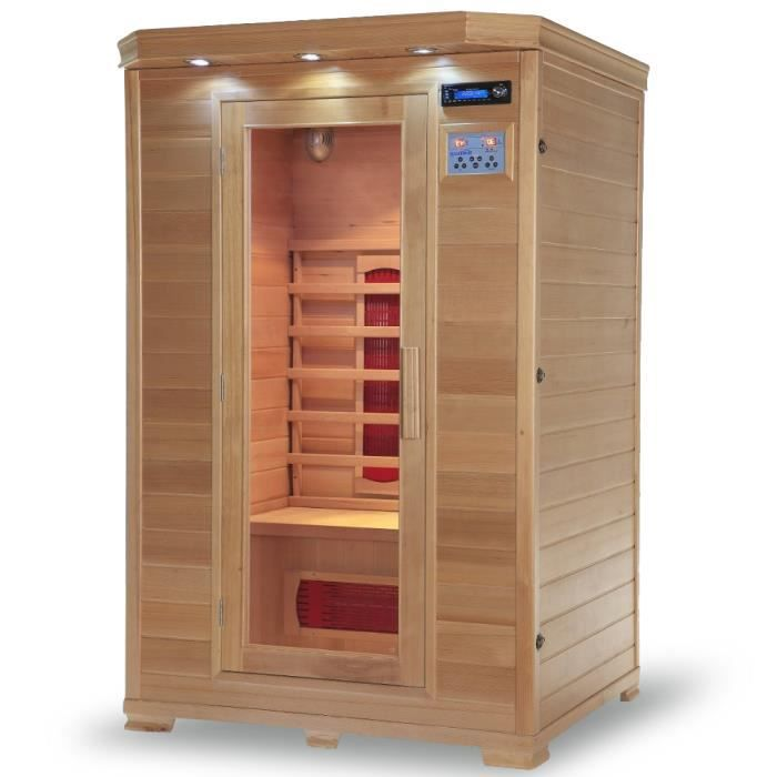 cabine sauna infrarouge 2places 120x105x190cm achat. Black Bedroom Furniture Sets. Home Design Ideas