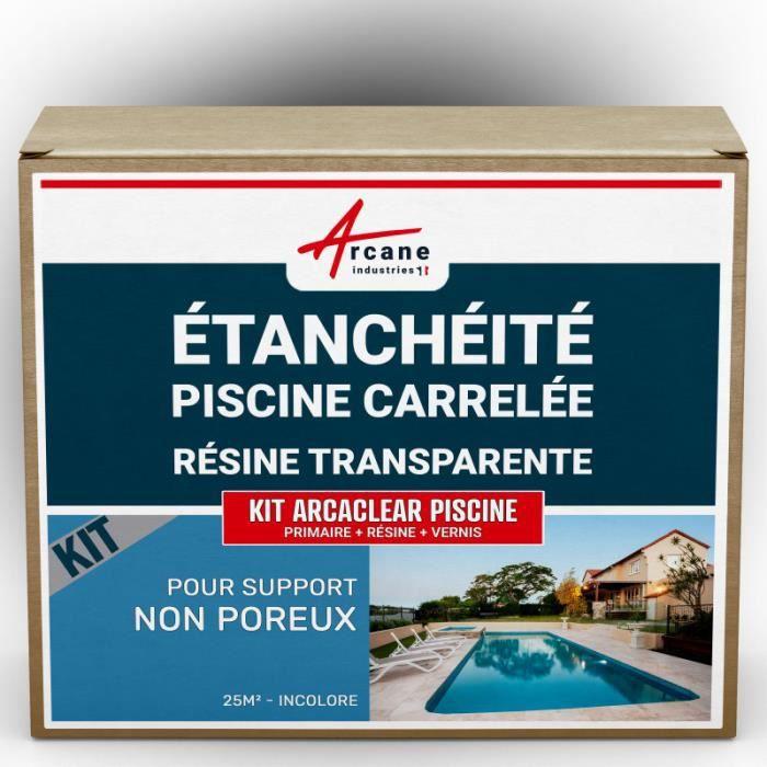 Kit Resinee Etancheite Transparent Pour Piscine Carrelee Transparent Kit 25 M Support Non Poreux Achat Vente Kit D Etancheite Kit Arcaclear Piscine Cdiscount