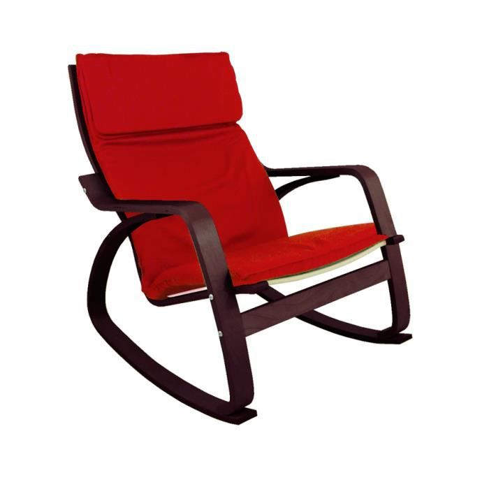 rocking chair chaise bascule francky coloris achat vente fauteuil cdiscount. Black Bedroom Furniture Sets. Home Design Ideas