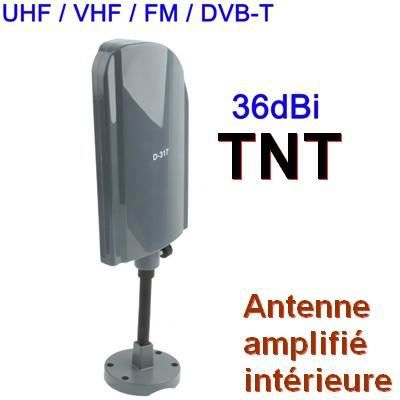 antenne tv int rieure ext r tnt uhf vhf fm 36 dbi. Black Bedroom Furniture Sets. Home Design Ideas
