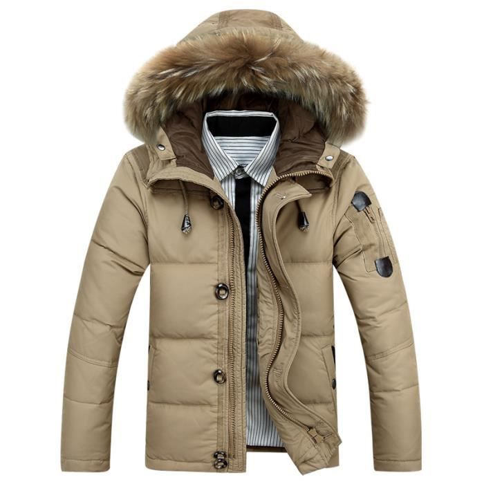 parka homme veste hiver homme doudoune homme co kaki achat vente doudoune cdiscount. Black Bedroom Furniture Sets. Home Design Ideas