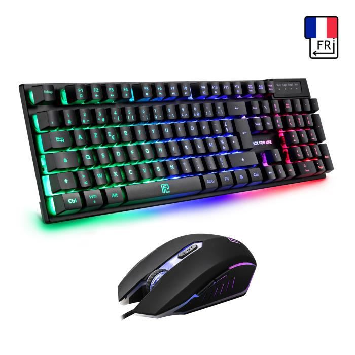 CLAVIER D'ORDINATEUR Clavier Gamer AZERTY - Haute Performance - Semi-Mé