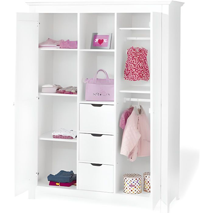 armoire enfant collection nina achat vente armoire. Black Bedroom Furniture Sets. Home Design Ideas