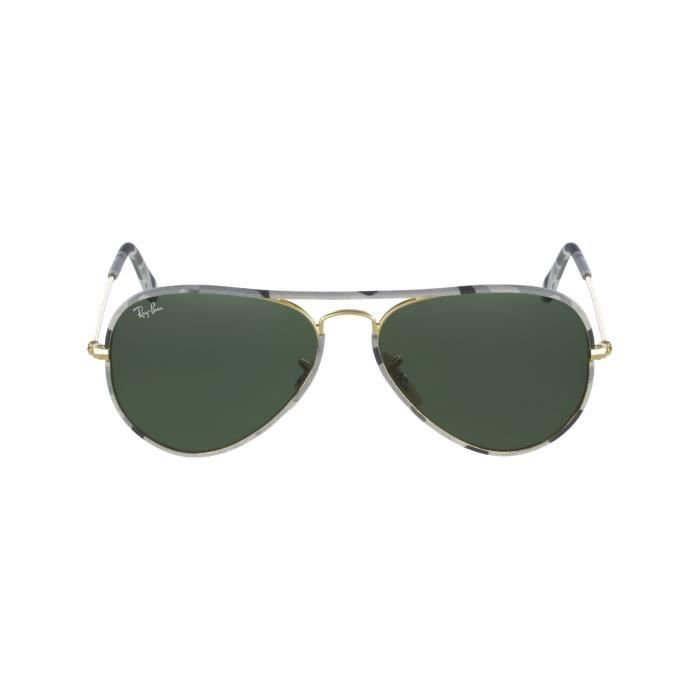 7c7923ec328 Lunettes de soleil Ray Ban RB3025JM Aviator Full Color-171 Or - Gris print
