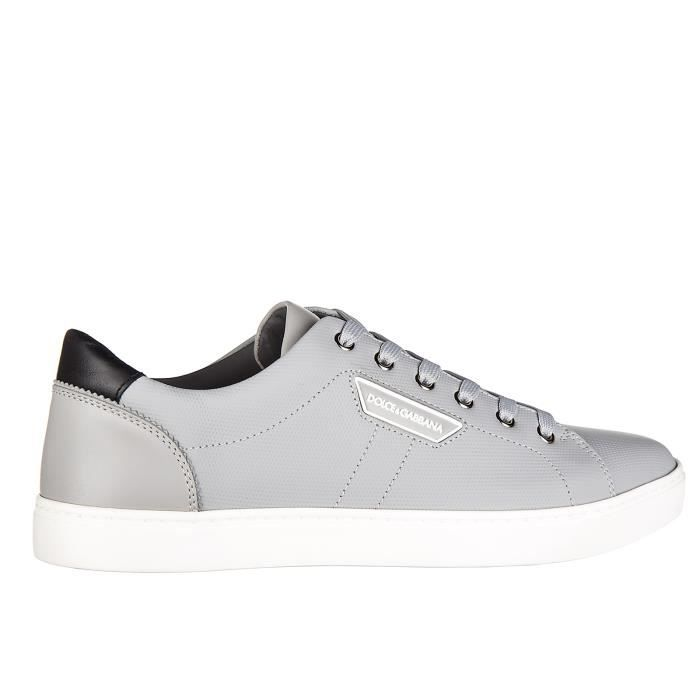 Chaussures baskets sneakers homme en cuir Dolce&Gabbana