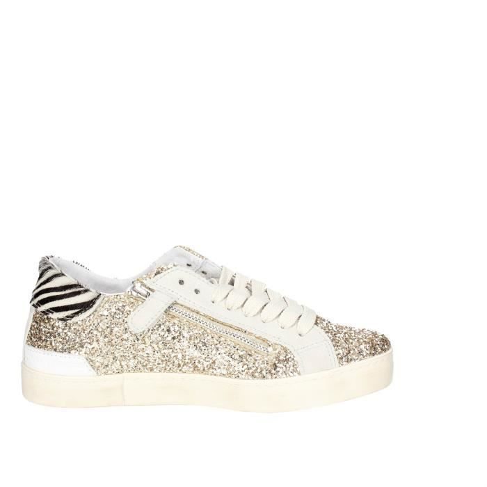 D.a.t.e. Petite Sneakers Fille Platine , 35