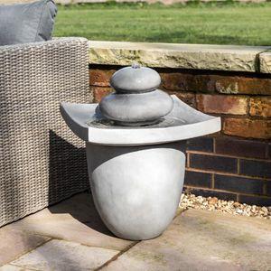 Fontaine de jardin exterieur pierre