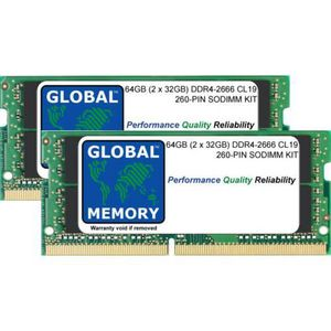 Samsung 32GB DDR4 PC4-21300, 2666MHZ, 260 PIN SODIMM, 1 2V