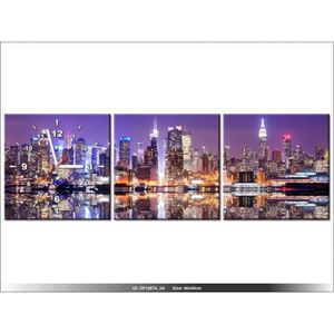90 x 30 cm new york horloge murale tableau moderne deco new design achat vente. Black Bedroom Furniture Sets. Home Design Ideas