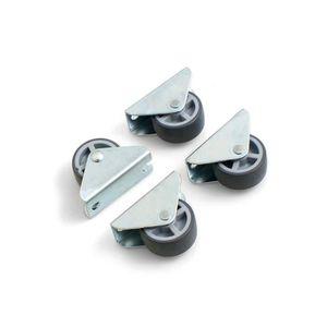ROUE - ROULETTE Design61 Jeu de 4 roulettes fixes Pour meuble, cof