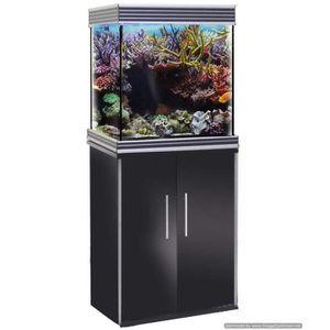 AQUARIUM Aquarium Wave Design Cube 55 Led verre noir brilla