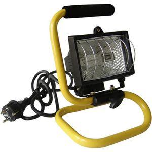 LAMPE DE CHANTIER Projecteur de chantier portable 400W avec bras