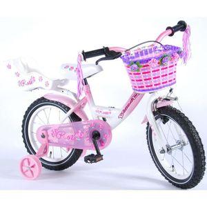 VÉLO ENFANT Vélo Enfant Fille 14 Pouces Rose Frein Avant sur L