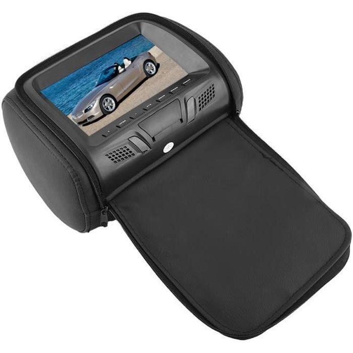 7pouces voiture appui-tête écran LCD moniteur MP5 DVD lecteur vidéo à distance 12V pratique à utiliser
