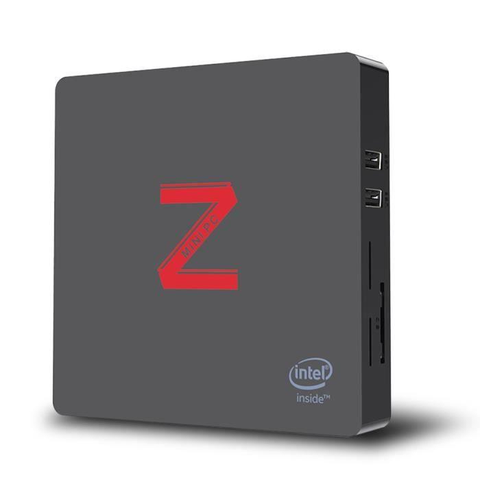 Déstockage ! ! Mini Pc Z85 Bluetooth 4.0 Intel Atom X5 Z8350 4Go+64Go Intel Hd Graphics 400 Affichage double écran