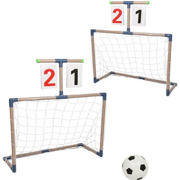 Cage de Foot But de Foot pour Enfant Jardin Entrainement Football 79*35*56cm-blanc