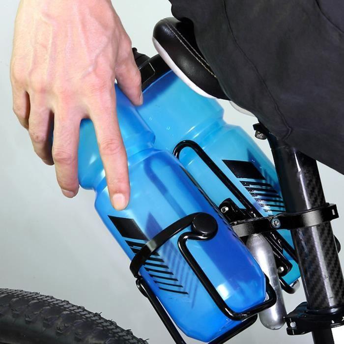 Porte-bouteille d'eau multifonctionnel double Accessoire de montage sur support d'adaptateur pour VTT(noir )-CHE