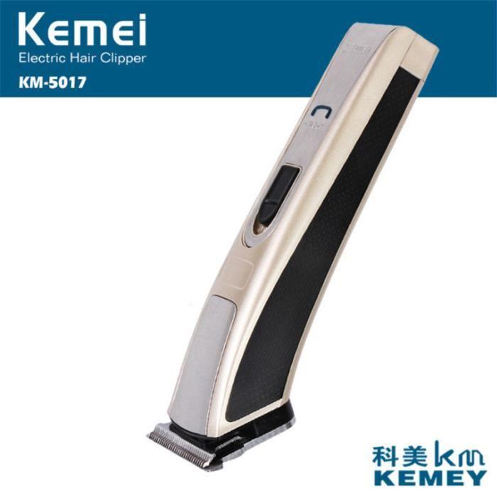 TONDEUSE CHEVEUX Mixte - kemei KM-5017 Tondeuse à cheveux rechargeable haute puissance enfants adulte - jaune CC™