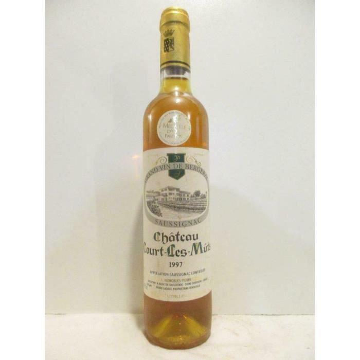 50 cl saussignac château court-les-mûts liquoreux 1997 - sud-ouest