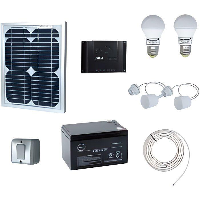 Kit eclairage interieur solaire 10W