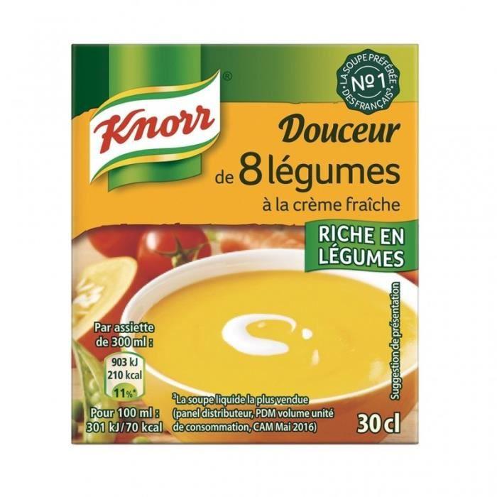 Knorr Douceur 8 Légumes à la Crème Fraîche 30cl (lot de 6)