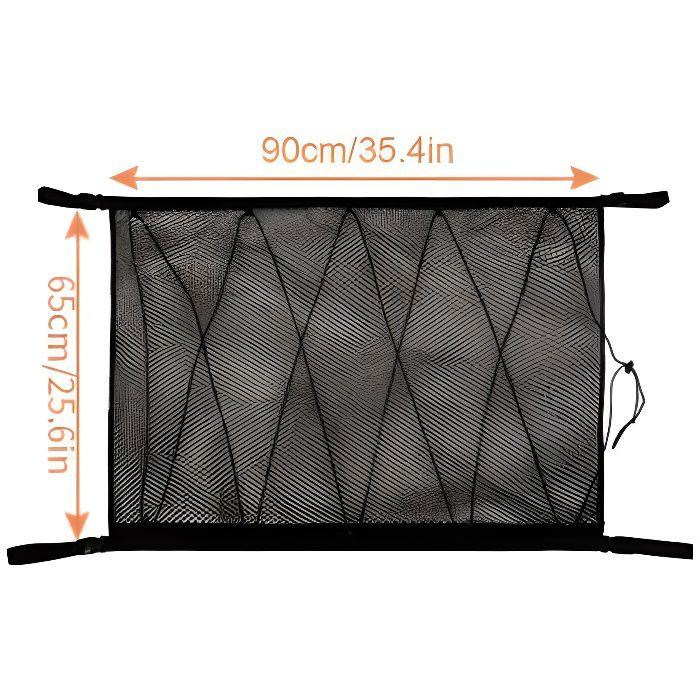Portable voiture plafond filet de rangement poche toit intérieur Cargo filet sac voiture coffre sac de rangement articles divers s