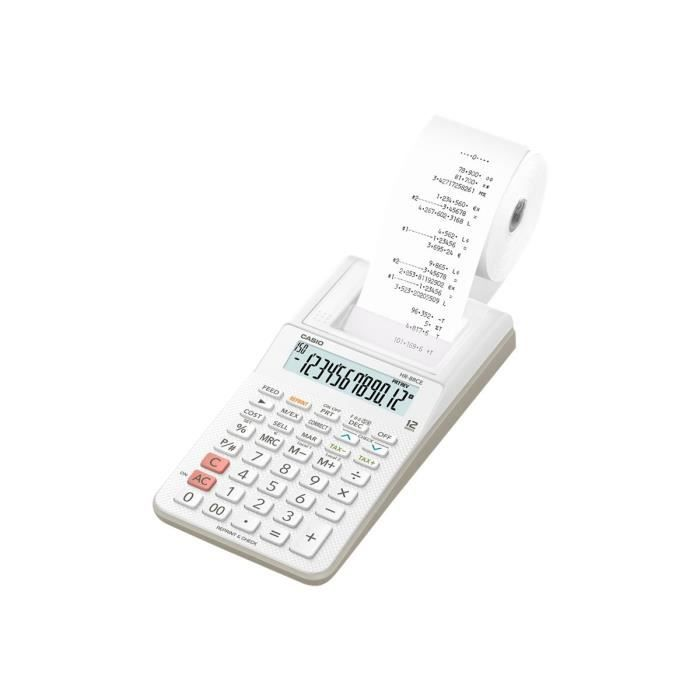 CASIO Calculatrice imprimante HR8 RCE Blanche blanche