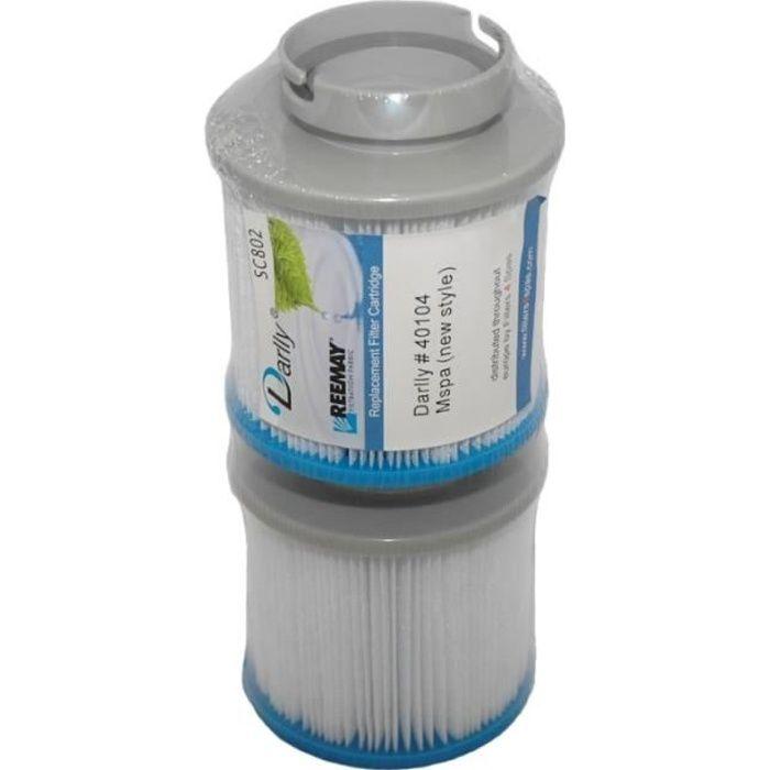 Lot de 2 Filtres pour Spa MSPA ou CAMARO 10,5 cm