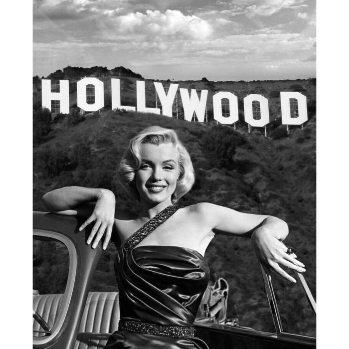 Poster Affiche Marilyn Monroe Hollywood Mannequin Sex Symbol Photo Vintage 61cm x 75cm