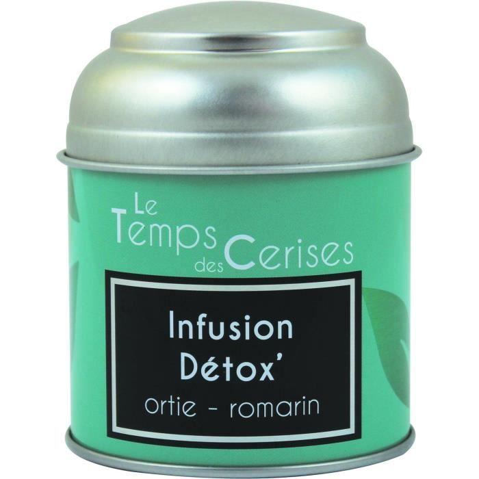 LE TEMPS DES CERISES Infusion Detox Boite Métal 30g