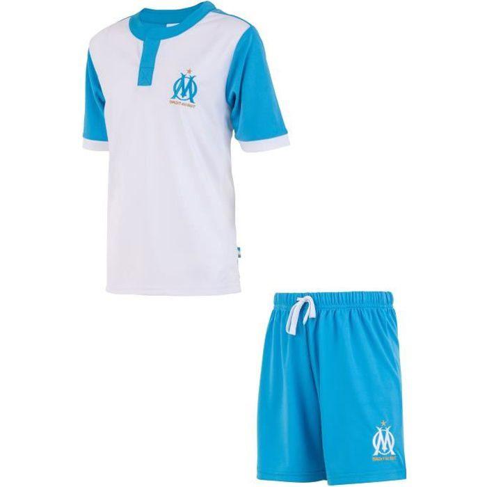 Maillot + short de football OM - Collection officielle OLYMPIQUE DE MARSEILLE - Enfant