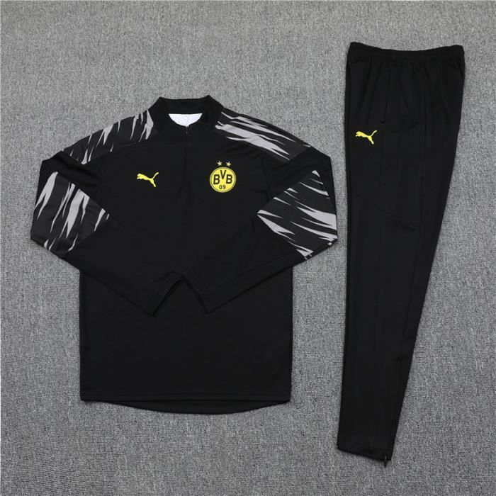 Tenue de Foot Enfants BVB Dortmund - Maillot de Foot Homme Garcon Enfants 20-21 Survêtements de Foot(Haut + Pantalon)