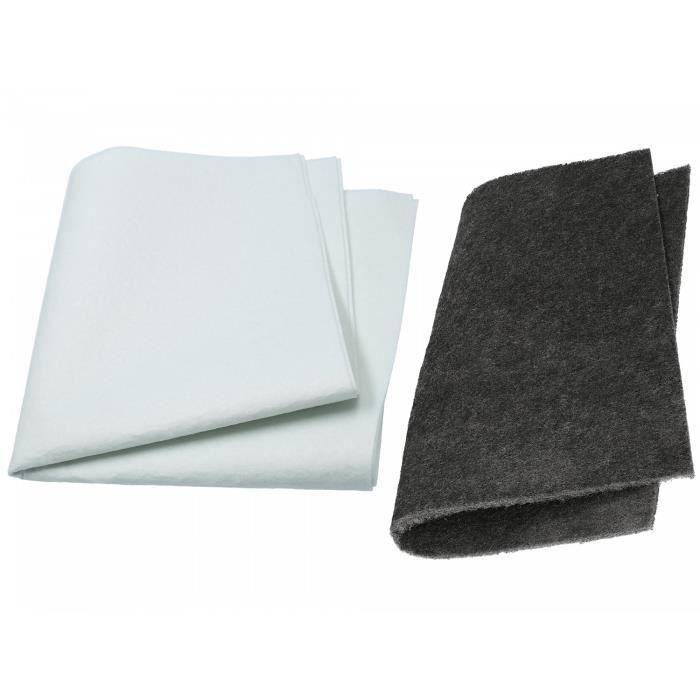 Wessper Kit 2x Universel Filtre pour Hotte Bosch DHU652MTR-02