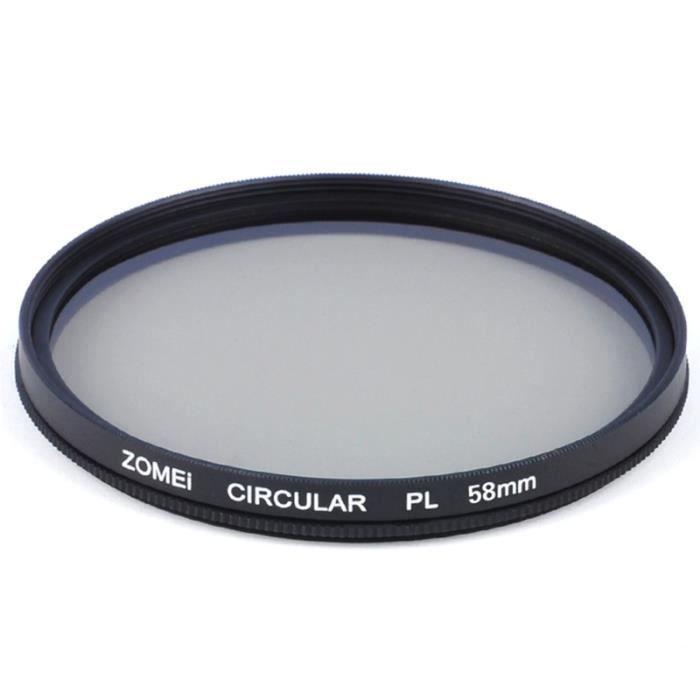 Verre optique de filtre d'appareil-photo de polariseur circulaire de CPL pour l'objectif de DSLR - 58mm PIECE DETACHEE DRONE