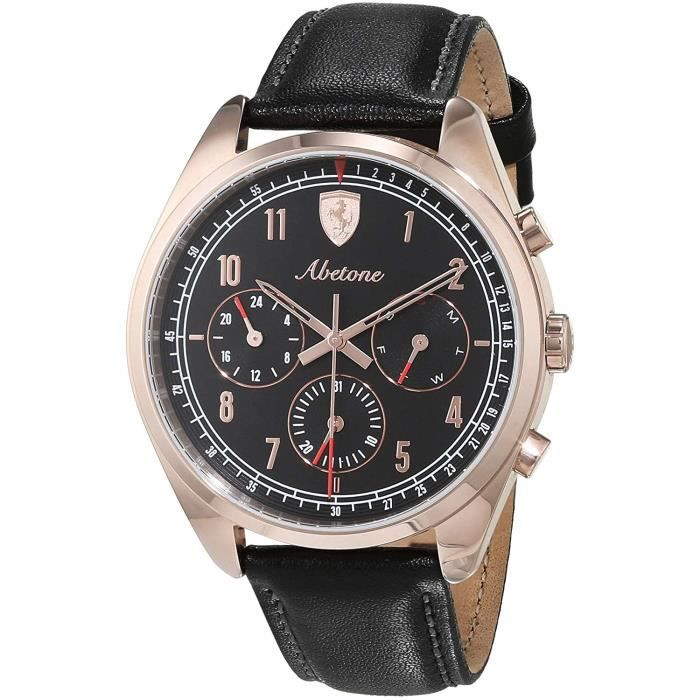 Scuderia Ferrari Hommes Multi-cadrans Quartz Montres bracelet avec bracelet en Cuir - 830570 3516