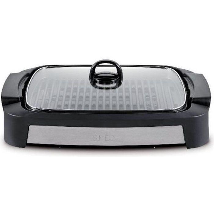 Simeo - barbecue électrique posable 2000w noir-inox - gta440
