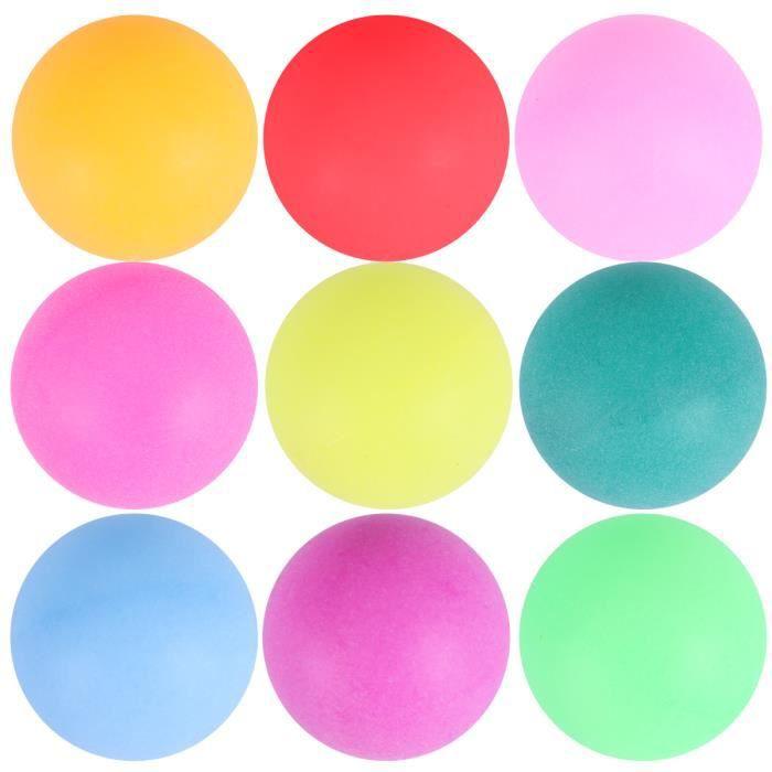 100 pcs Ping Pong Balles Coloré 40mm Sans Soudure Durable D'entraînement RAQUETTE DE TENNIS DE TABLE - CADRE DE TENNIS DE TABLE