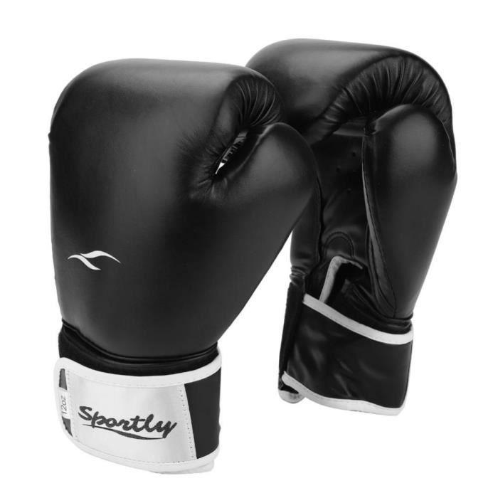 1 paire de gants de boxe pour adulte (noir)---DQ FRANCE