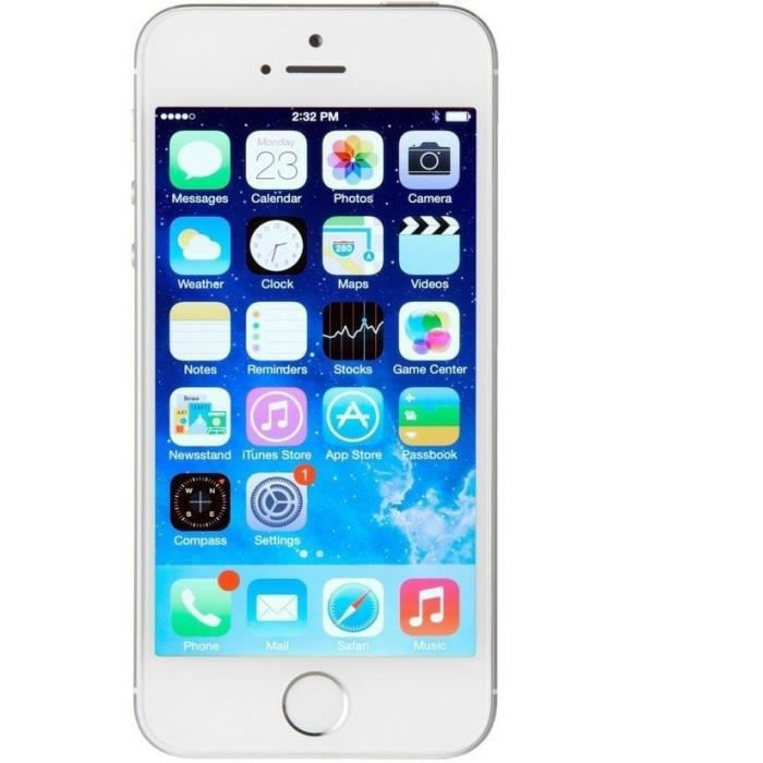 apple iphone 5s 64gb reconditionn a neuf argent achat. Black Bedroom Furniture Sets. Home Design Ideas