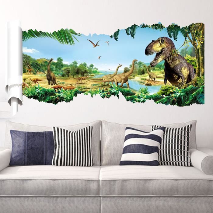 Jungle Original Dinosaures Féroces Stickers Muraux, Chambre dEnfant ...
