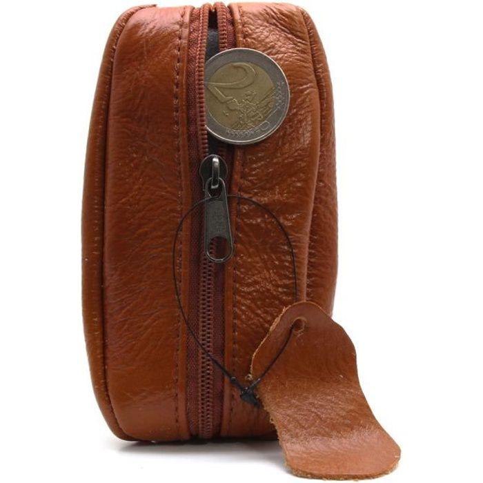 Grand brun Etui pour Femmes et Hommes Camel Active Etui /à clefs en Cuir V/éritable avec Porte-Monnaie et Emplacement pour Carte