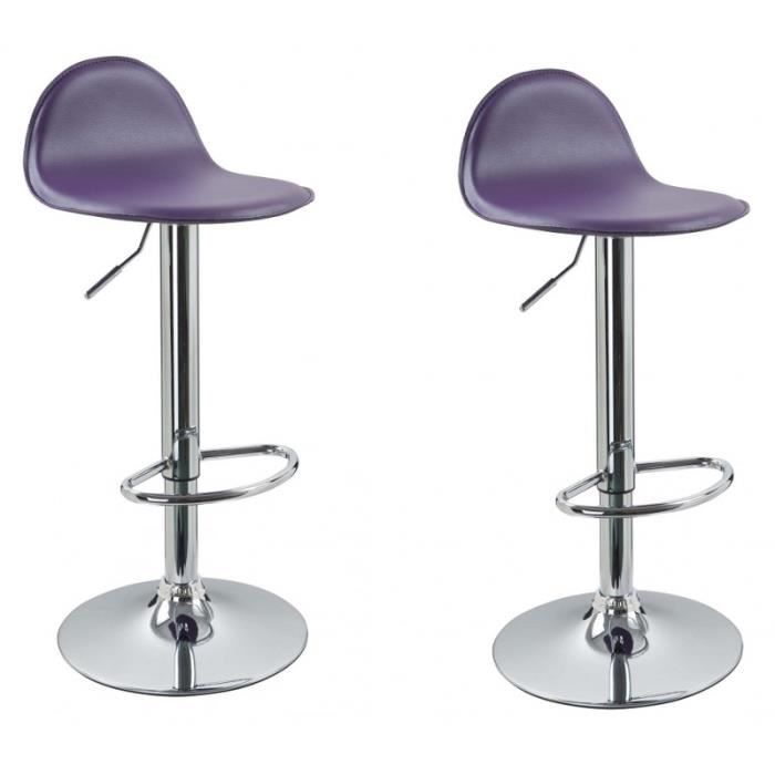 lot de 2 tabourets de bar violet 1209028 achat vente. Black Bedroom Furniture Sets. Home Design Ideas