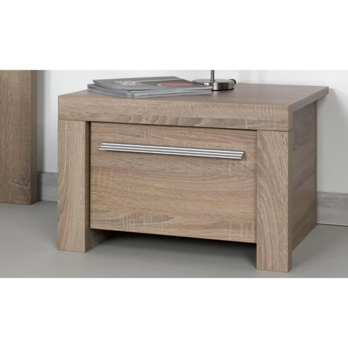 Table de chevet ana bois gris achat vente chevet table for Table de chevet bois clair