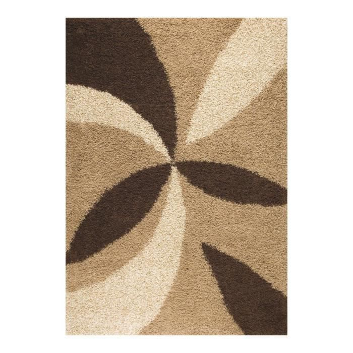allotapis tapis design shaggy beige enjoy 120x170cm beige achat vente tapis cdiscount. Black Bedroom Furniture Sets. Home Design Ideas