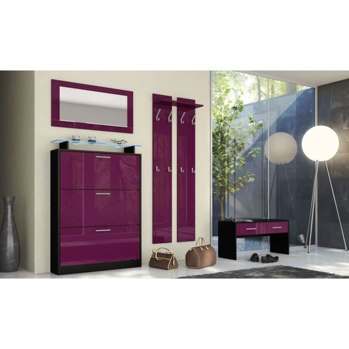 ensemble penderie noir framboise achat vente meuble d 39 entr e ensemble penderie noir fram. Black Bedroom Furniture Sets. Home Design Ideas